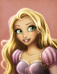 Lovely Rapunzel fan art…can't make out the signature to give credit