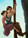 Appers to be Fan Art but another one for the Brown Hair Rapunzel fans